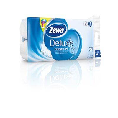 Toalettpapír Zewa Delux 3 rétegű 8 tekercses Pure White