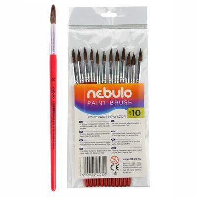 Ecset NEBULO póniszőr festett fanyelű 10-es