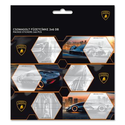 Füzetcímke ARS UNA 18db/csomag Lamborghini