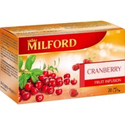 Gyümölcstea vörösáfonya 20x2,3g MILFORD