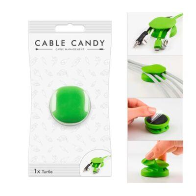 Kábeltartó CABLE CANDY teknős zöld