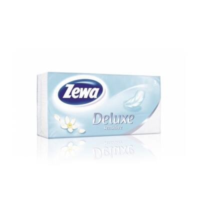Papírzsebkendő Zewa Deluxe 90db-os Sensitive/Watter Lily
