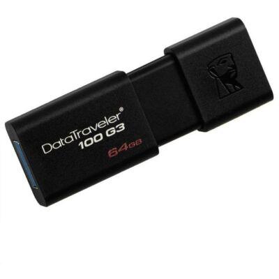 Pendrive KINGSTON DT 100 G3 USB 3.0 64GB fekete